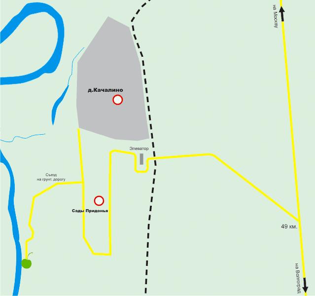 Касатка на карте